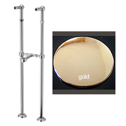Floor connections gold 24 Karat for freestanding bath tub,<br>AN: AC0044010