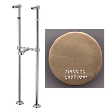 Floor connections bronze brush-finished for freestanding bath tub,<br>AN: AC0044065