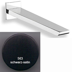 Square spout matt black and chrome for concealed mixer<br>AN: AC0324563