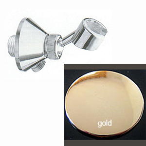 Wall-mounted adjustable shower holder with water outlet gold 24 Karat,<br>AN: AC0441010