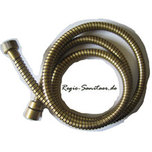 Metal shower hose bronze brush-finished 150 cm,<br>AN: 333CN150VO